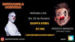 Talk Show do Muzzarela com Rodolfo Menezes (Palhaço Tuga)