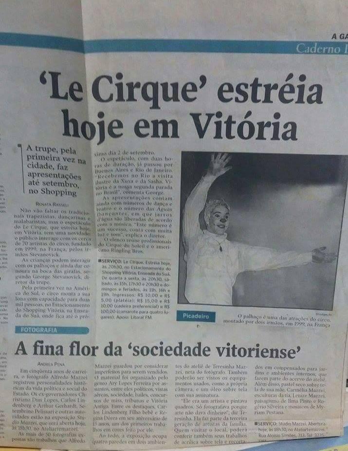 Palhaço Muzzarela no Circo Le Cirque
