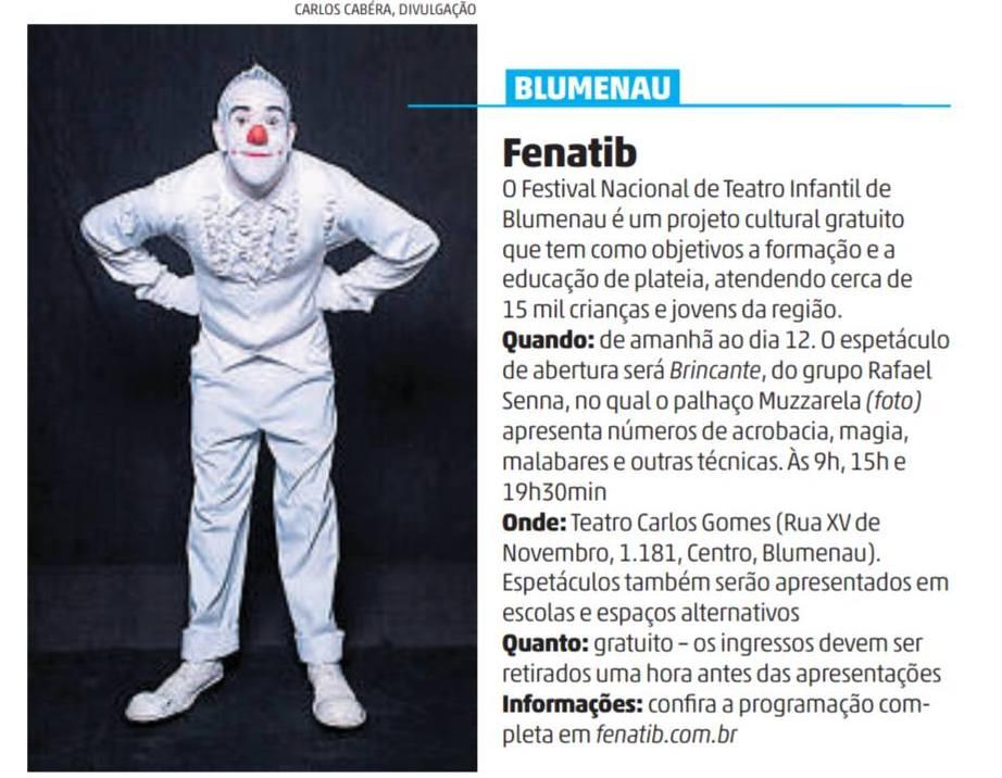 Espetáculo BRINCANTE no FENATIB