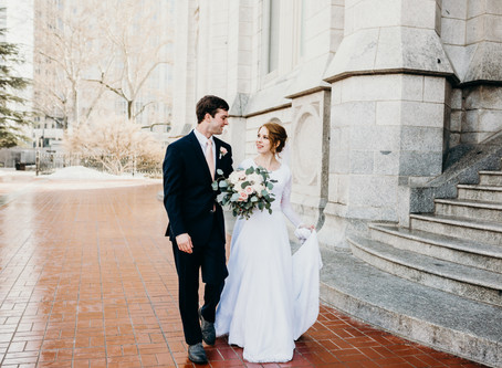 winter salt lake wedding