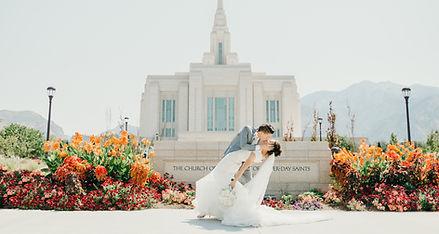 LDS ogden temple wedding photographer, summer wedding utah