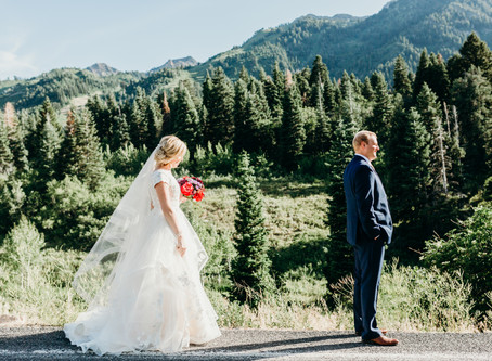 summer bridals at snowbasin