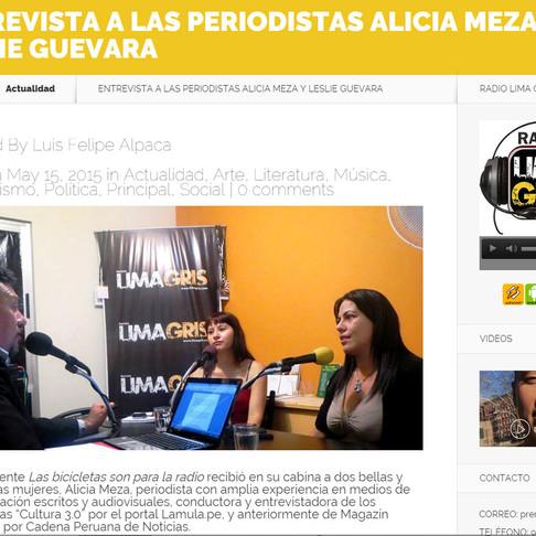 Entrevista a las periodistas Alicia Meza y Leslie Guevara