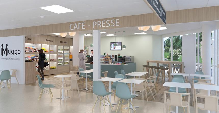 Kiosque café presse