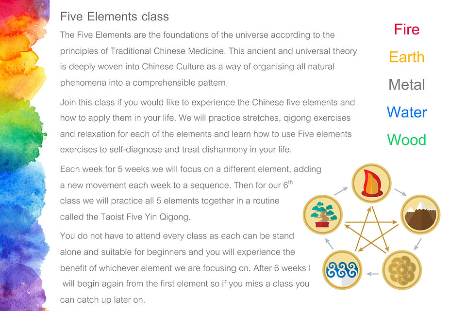 Five Elements Class