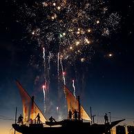 ハーバーの花火