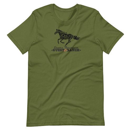 Steens Mountain Guest Ranch Artist Full Horse - Short-Sleeve Unisex T-Shirt
