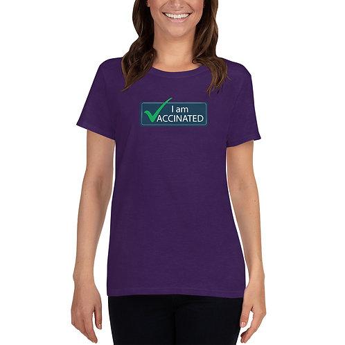 I am Vaccinated - VAXXED - Women's short sleeve t-shirt