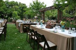 Garden Wedding - wood chairs