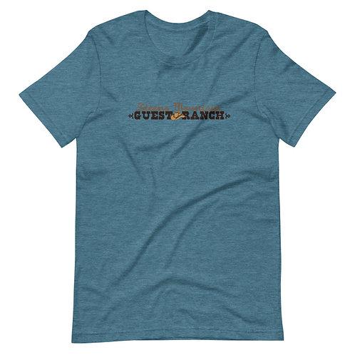Steens Mountain Guest Ranch Logo Brown - Short-Sleeve Unisex T-Shirt