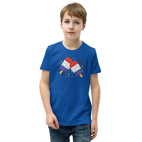4th of July Popsicles Redmond, Oregon - Youth Short Sleeve T-Shirt