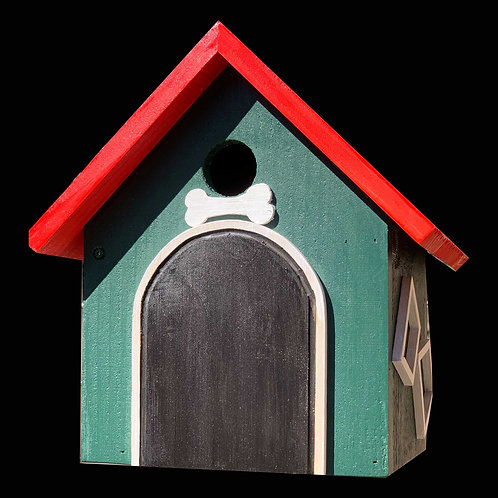 Dog House Birdhouse / Hanging