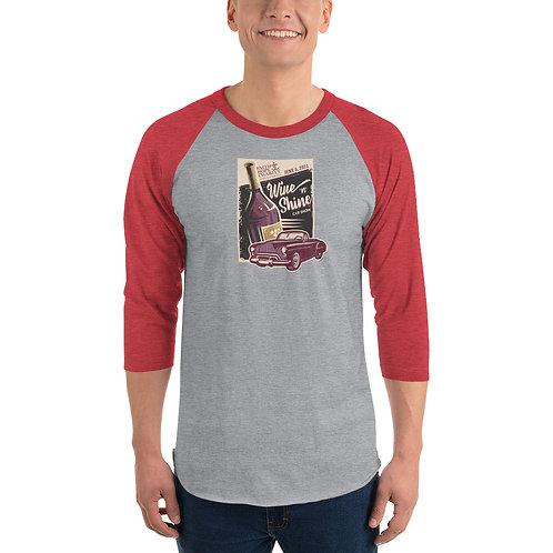 Wine 'n' Shine Car Show - June 5, 2021 - 3/4 sleeve raglan shirt