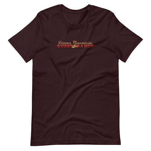 Steens Mountain Guest Ranch Logo - Short-Sleeve Unisex T-Shirt