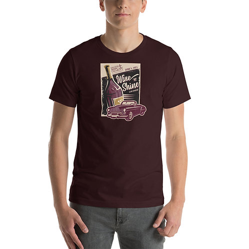 Wine 'n' Shine Car Show - June 5, 2021 - Short-Sleeve Unisex T-Shirt