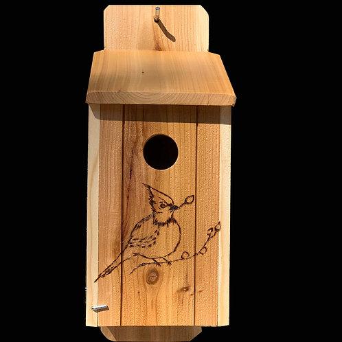 Flush mount Blue Bird Birdhouse