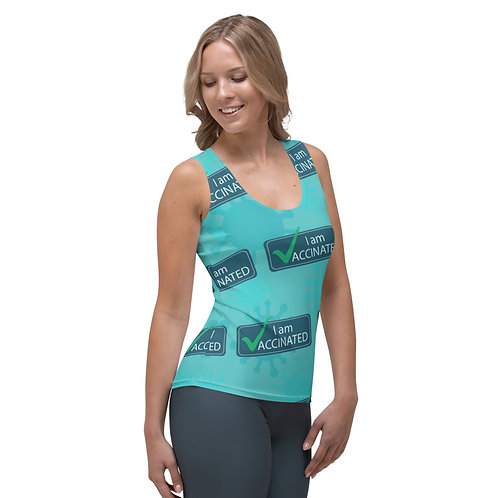 I am Vaccinated - VAXXED - Sublimation Cut & Sew Tank Top