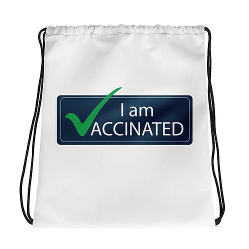 I AM VACCINATED - Drawstring bag