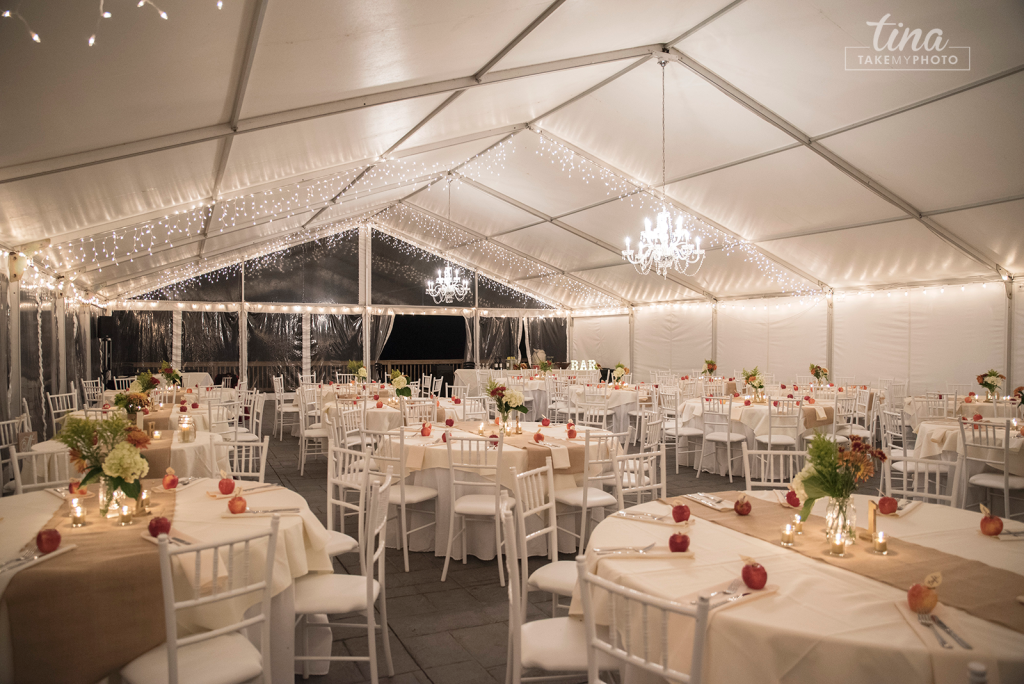 Wedding with a All White Clearspan Structure