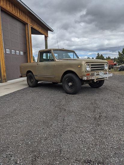 406 Garage Bend Oregon International Scout II Half Cab V8