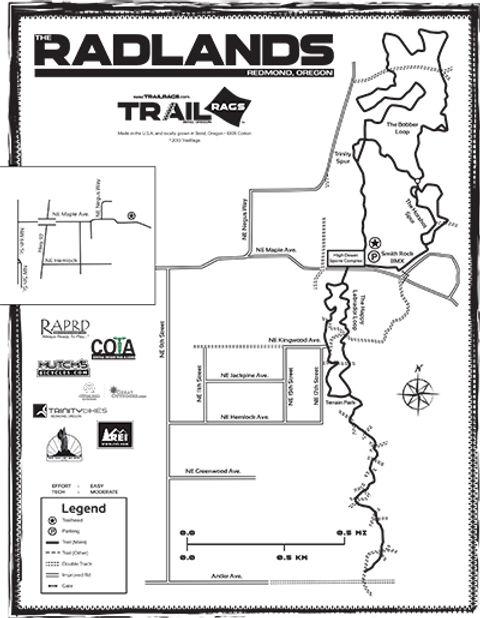 Radlands Trials Rags Map Redmond oregon MTB