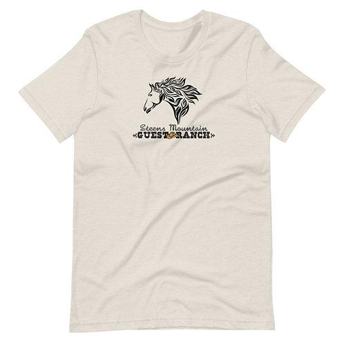 Steens Mountain Guest Ranch Artist Head Horse - Short-Sleeve Unisex T-Shirt