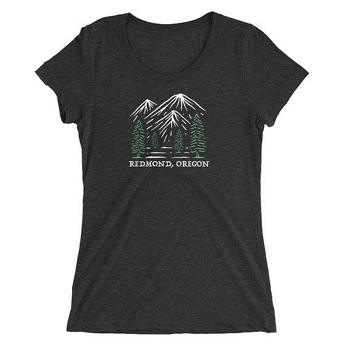 Redmond Oregon Mountains and Trees - Ladies' short sleeve t-shirt