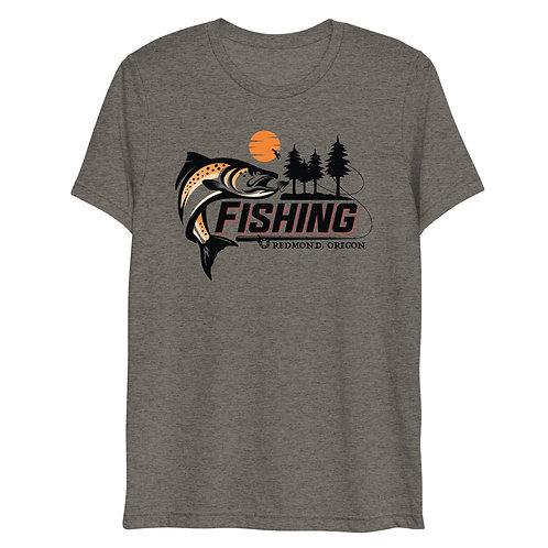 Fishing Redmond, Oregon - Short sleeve t-shirt