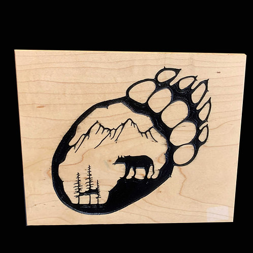 Bear Paw Print Plaque