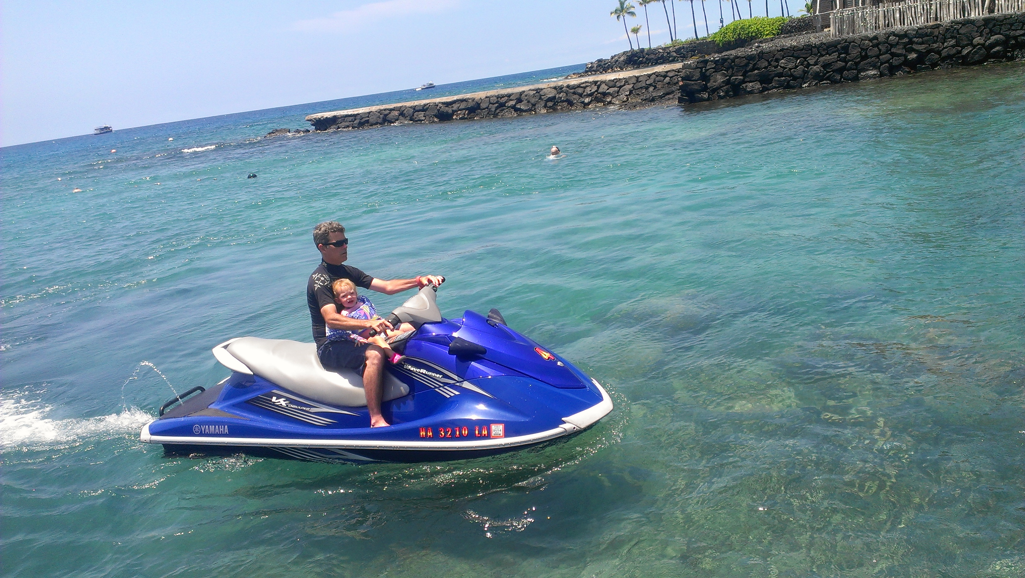 Clay with Family on Yamaha Waverunne