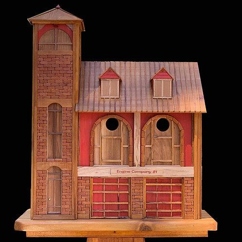 Firehouse Birdhouse / Pole Mount