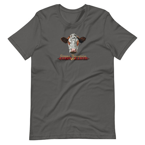 Steens Mountain Guest Ranch Cow Head - Short-Sleeve Unisex T-Shirt