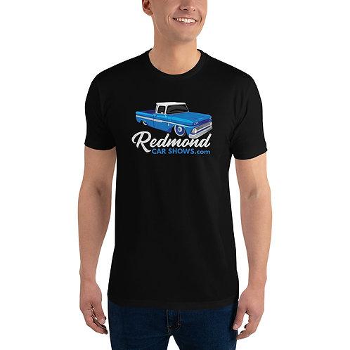 Redmond Car Shows - Blue Chevy Truck - Short Sleeve T-shirt