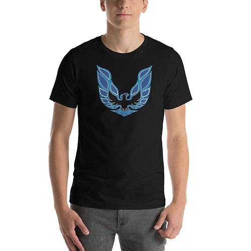 Pontiac Firebird - blue - Short-Sleeve Unisex T-Shirt