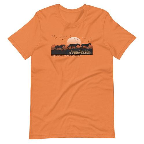 Steens Mountain Guest Ranch Kiger Mustangs - Short-Sleeve Unisex T-Shirt