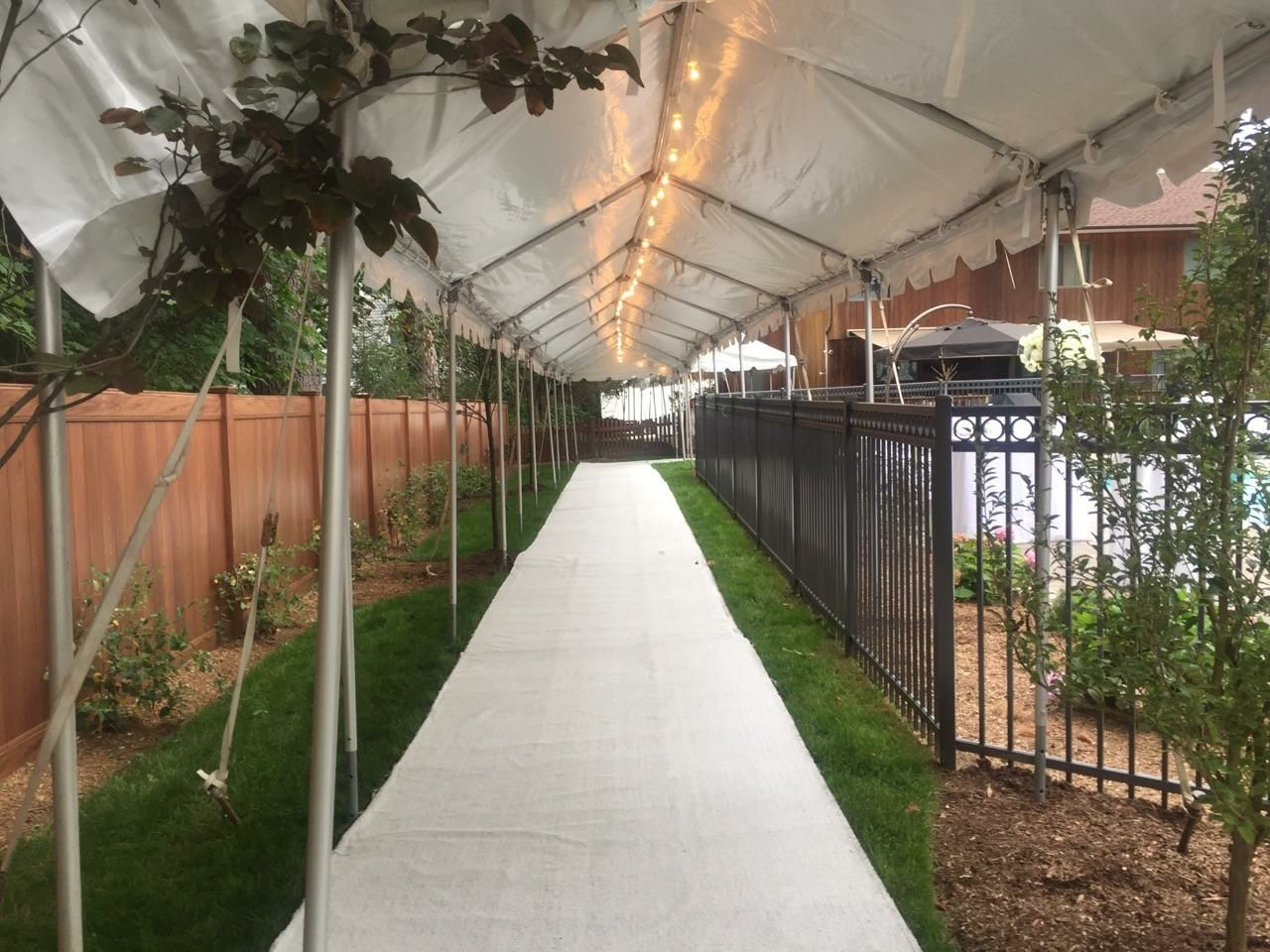 Wedding White Canopy and White Runners