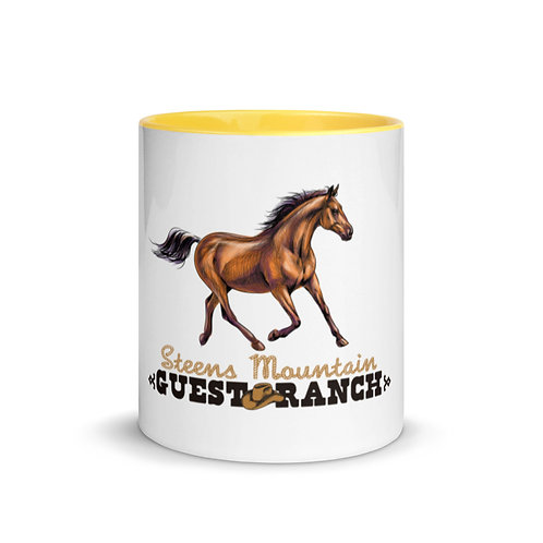 Steens Mountain Guest Ranch Hand Drawn Horse - Mug with Color Inside