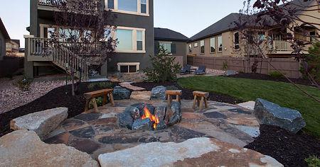 Firepit Installation Landscaping Company Redmond, Oregon