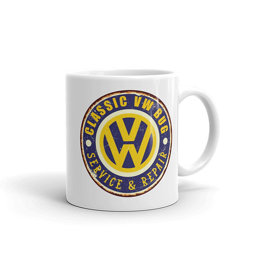 Classic VW logo - White glossy mug
