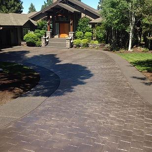 colors concrete stamp bend Oregon