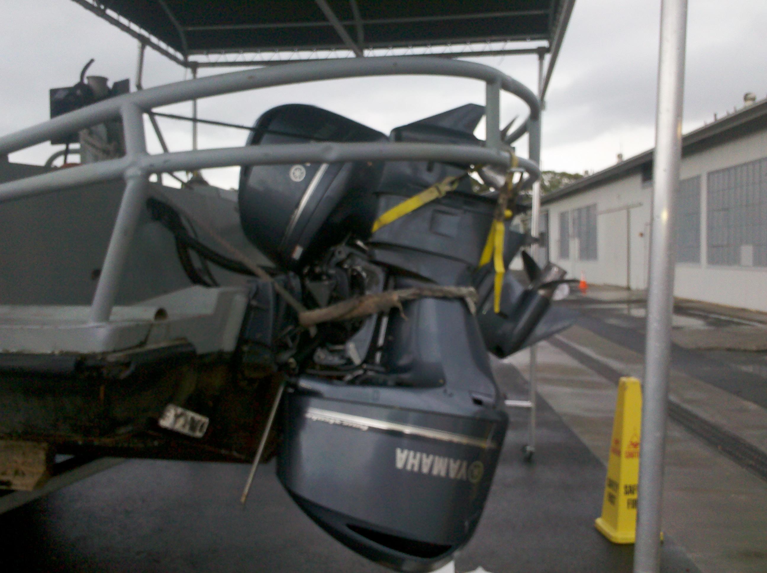 Tangled Yamaha Outboard Motor
