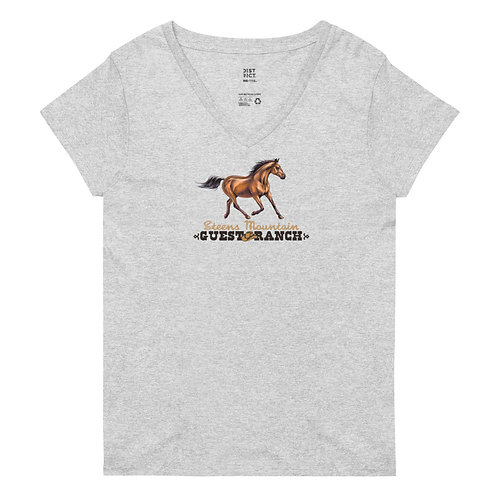 Steens Mountain Guest Ranch Hand Drawn Horse - Women's recycled v-neck t-shirt