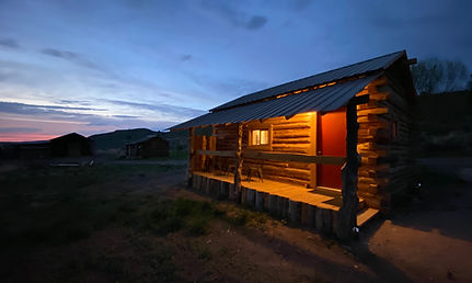 The cabins at Steens Mountain Guest Ranch Cowboy Dude