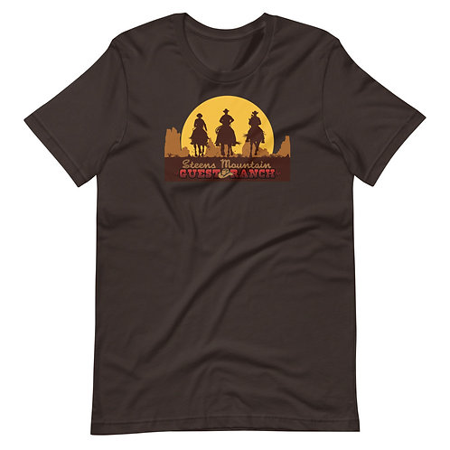 Steens Mountain Guest Ranch Cowboy Sunset - Short-Sleeve Unisex T-Shirt