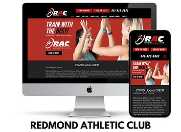WEBSITE DESIGN FOR GYMS IN REDMOND, OREG