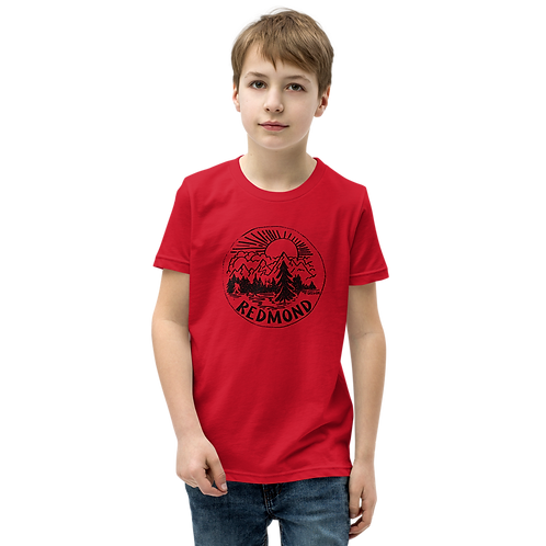 Sasquatch in Nature - Youth Short Sleeve T-Shirt