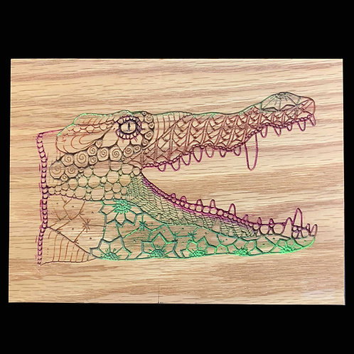 Zentangle Gator plaque