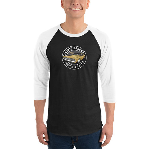 Mercury Cougar Classic Car - 3/4 sleeve raglan shirt