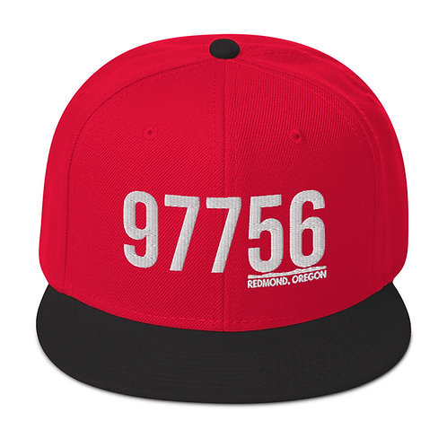 97756 Redmond, Oregon - White - Snapback Hat
