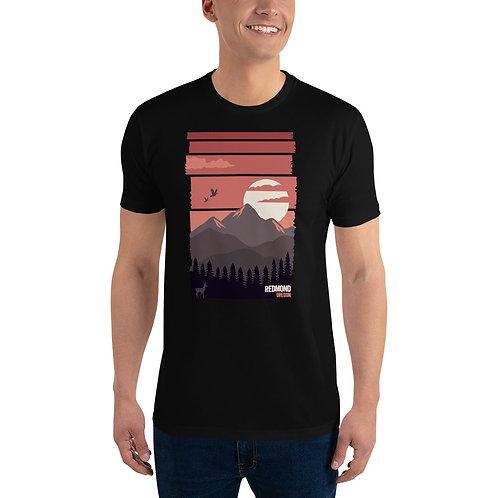 Redmond, Oregon Sunset - Short Sleeve T-shirt
